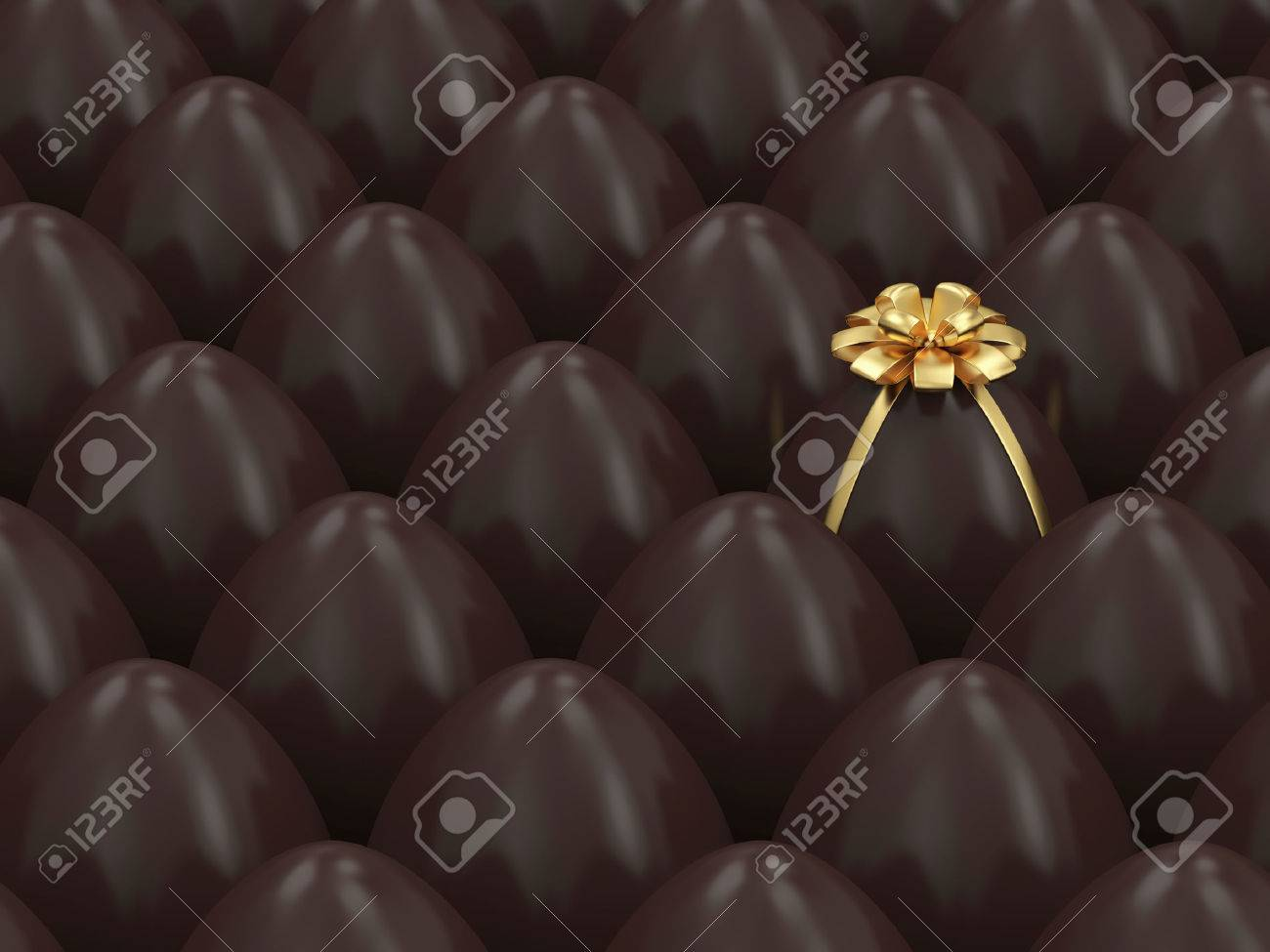 Chocolate Easter Egg Conceptual Image Stock Photo - 25163178