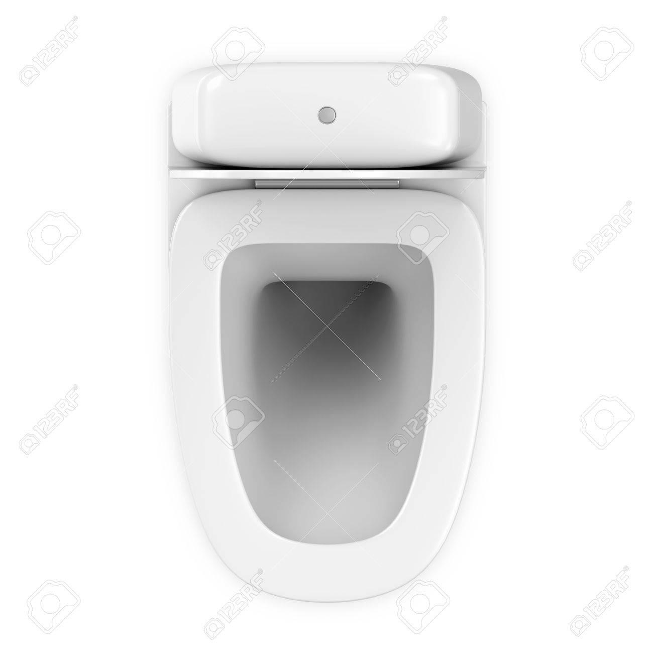 Inodoro De Cer Mica Moderno Aislado En El Fondo Blanco Fotos  ~ Como Limpiar El Fondo Del Inodoro