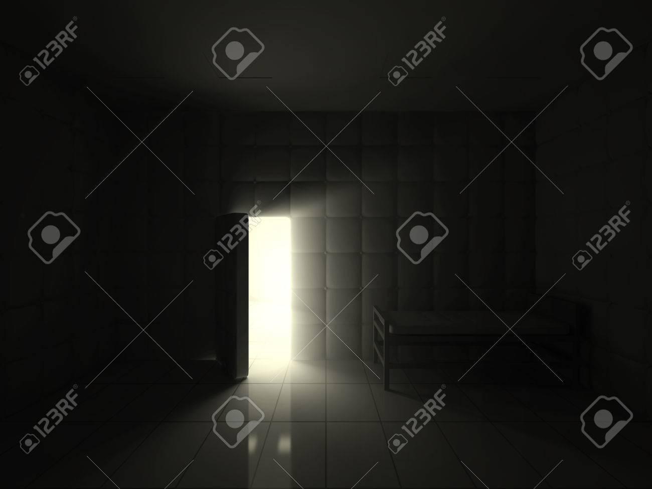 Chambre Hôpital Psychiatrique Intérieur Avec Ouvert La Porte à La ...