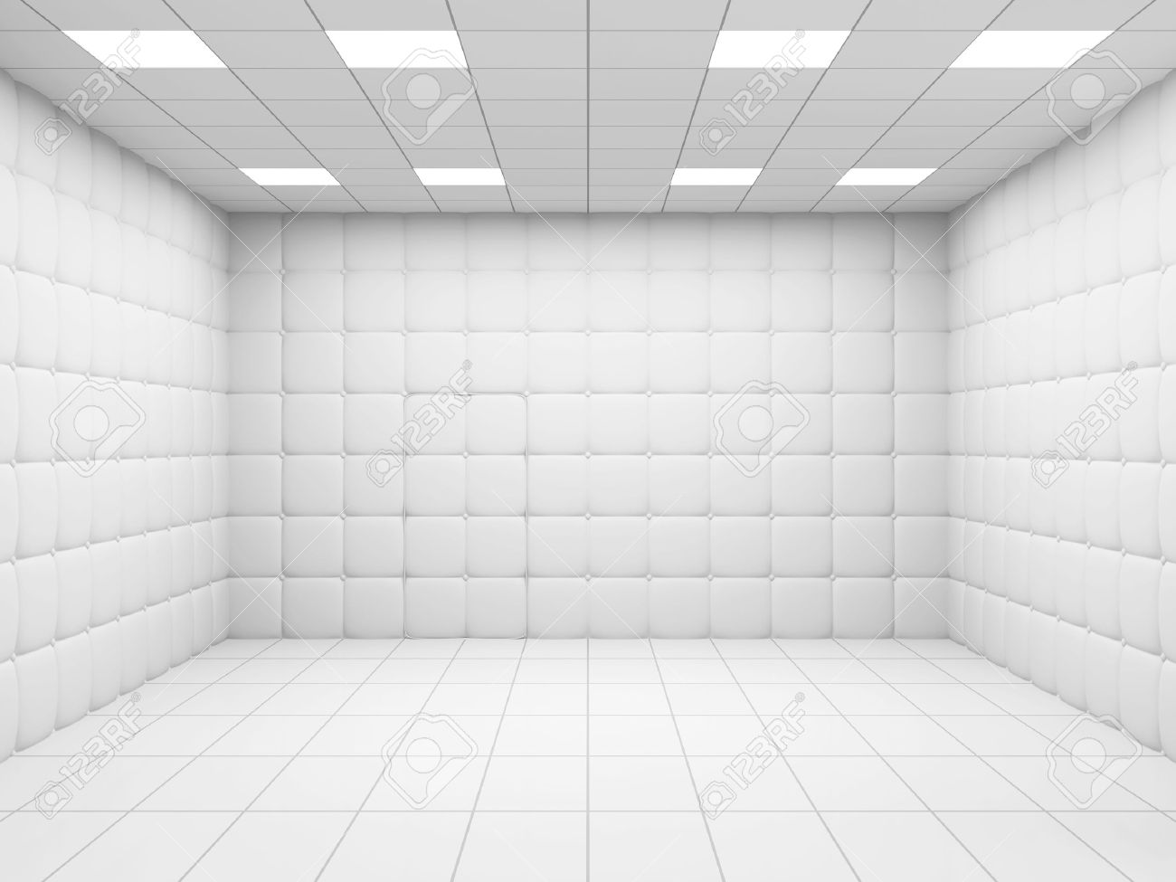 White Mental Hospital Room Interior. 3D Rendering Stock Photo ...