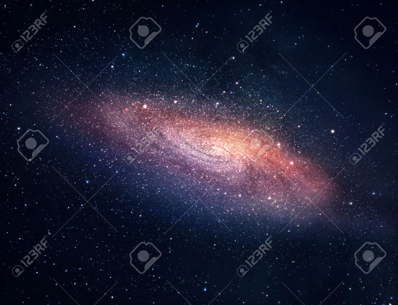 A picture of bright spiral galaxy with myriads of stars - 7320147