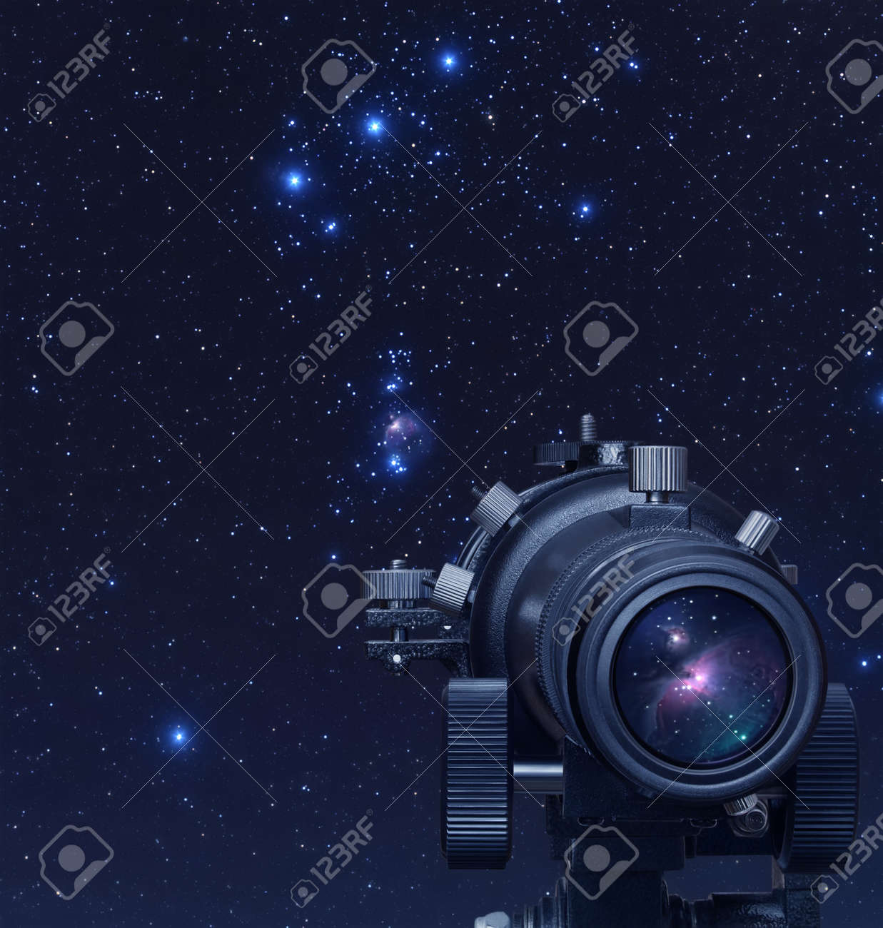 A picture of telescope pointed at Orion nebula - 18405867