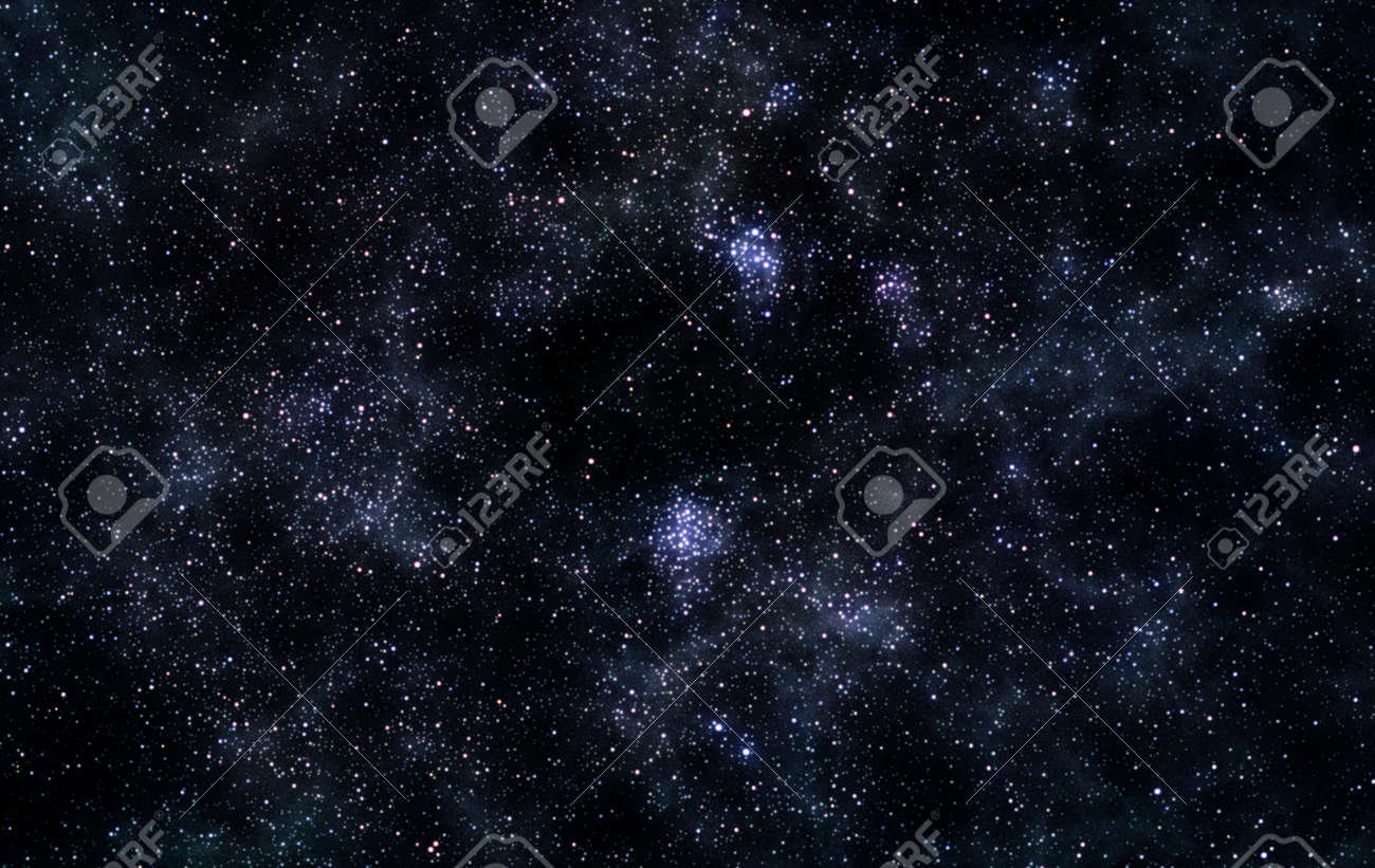 Astronomical image of dense and bright star field - 27583027