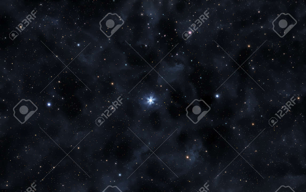A picture of the star Polaris and faint nebulae of Milky Way galaxy - 152193276