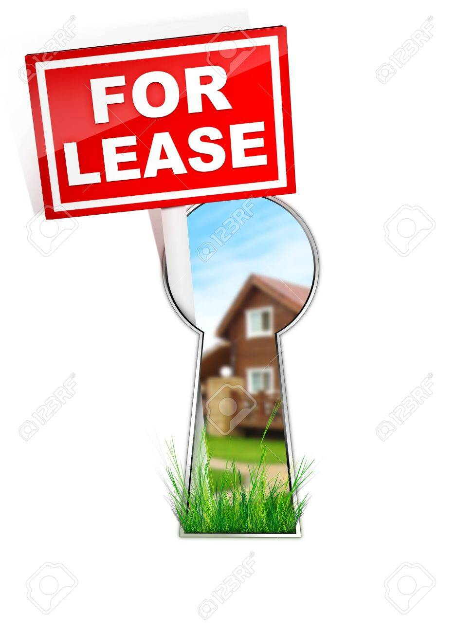 For Lease - Real Estate Tablet Stock Photo - 4913084