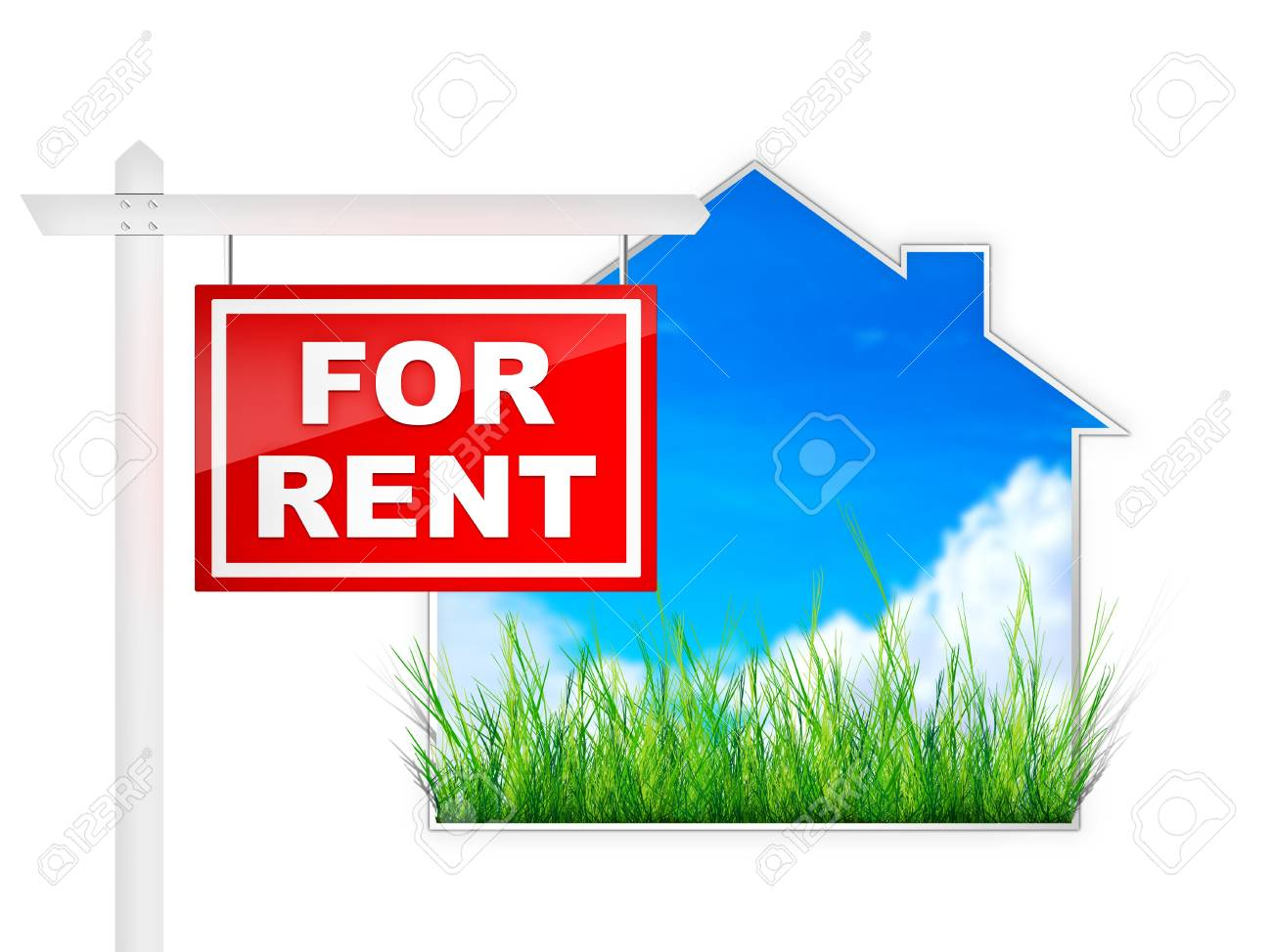 For Rent - Real Estate Tablet Stock Photo - 4913095