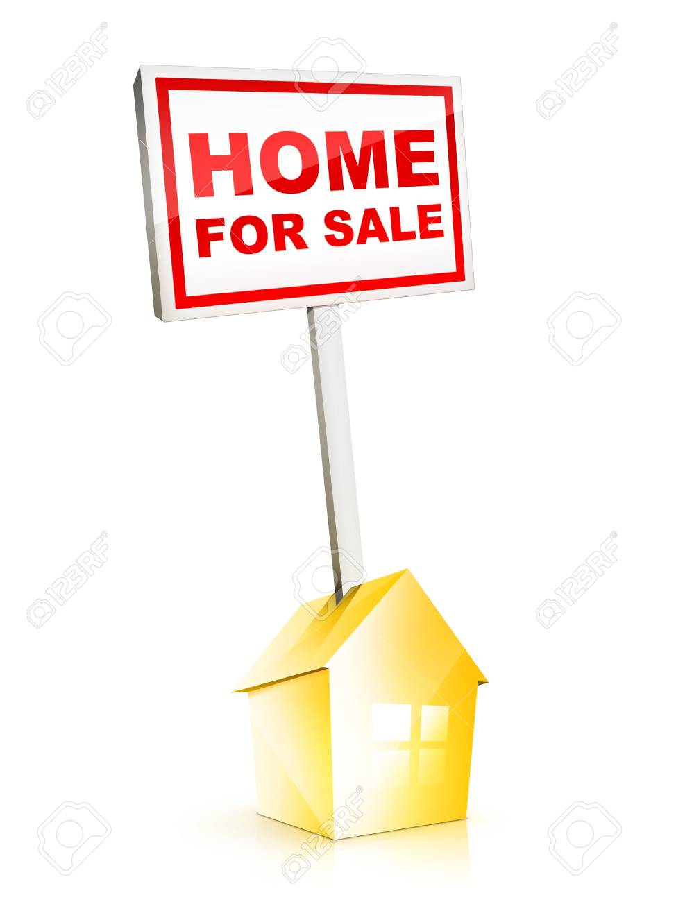 Real Estate Sign – Home For Sale Stock Photo - 5149287