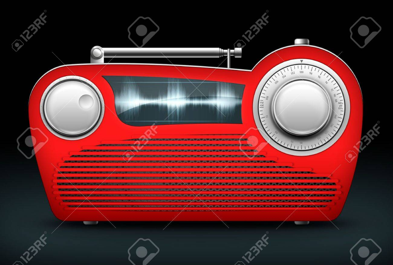 Old Style Radio on the Black background. Computer Designe, 2D Graphics Stock Photo - 5807673