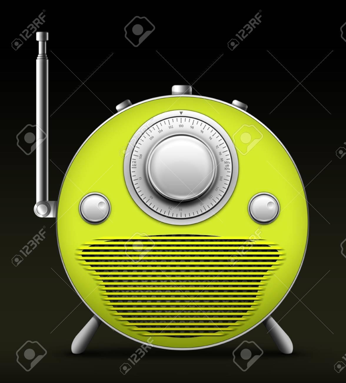 Old Style Radio on the Black background. Computer Designe, 2D Graphics Stock Photo - 5869347