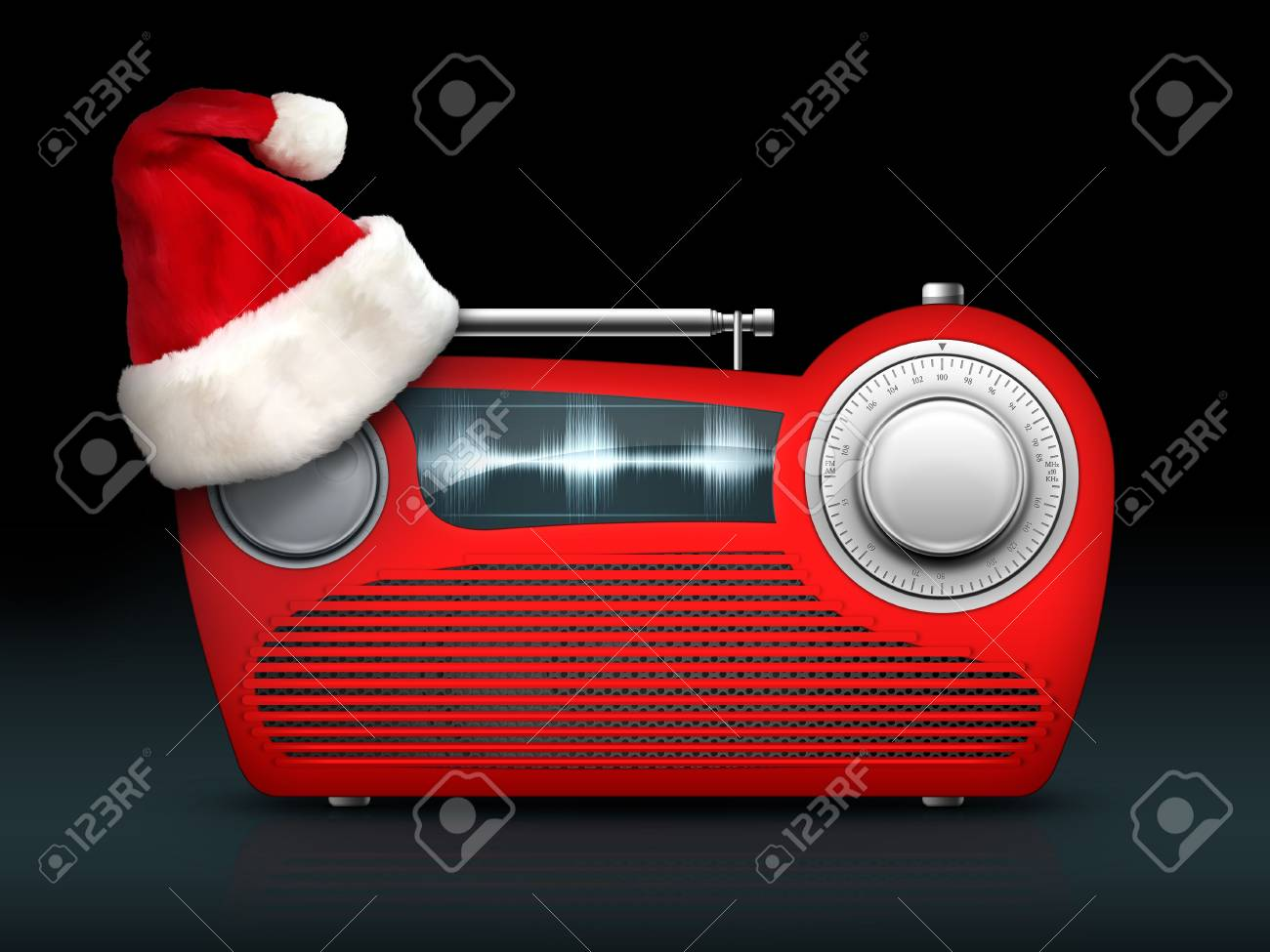 Old Style Radio on the White background. Computer Designe, 2D Graphics Stock Photo - 5887145