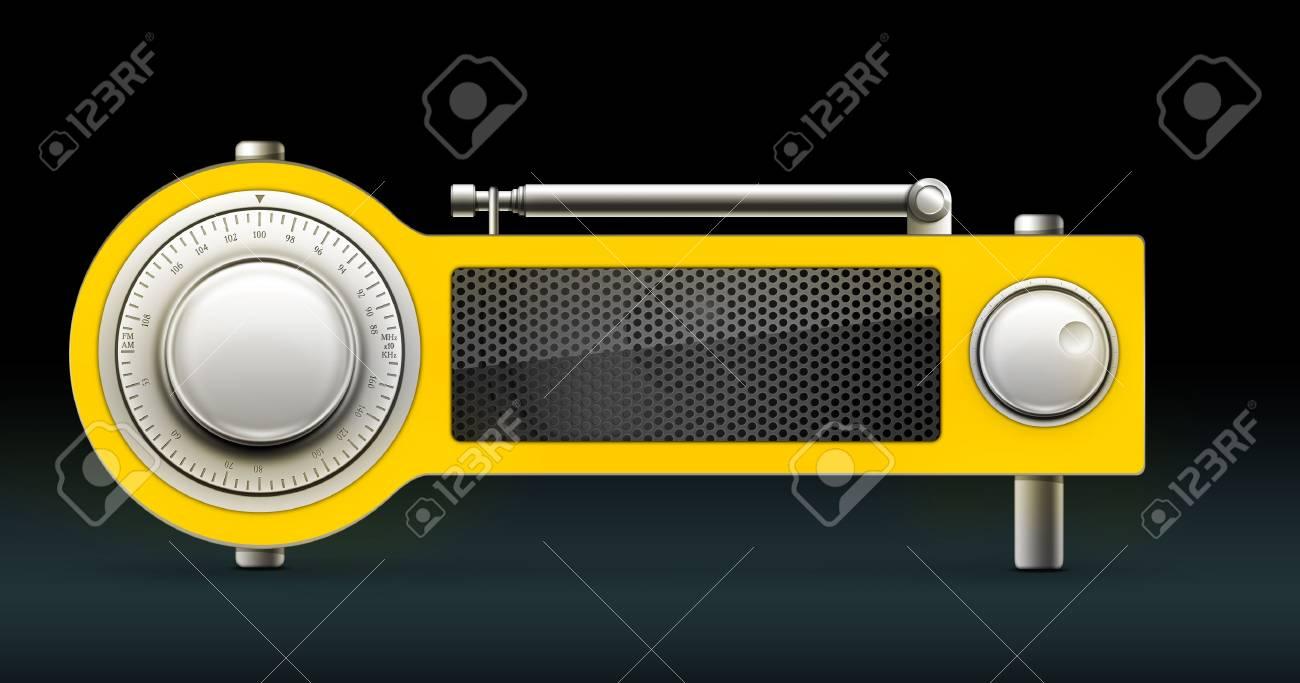 Old Style Radio on the Black background. Computer Designe, 2D Graphics Stock Photo - 5887135