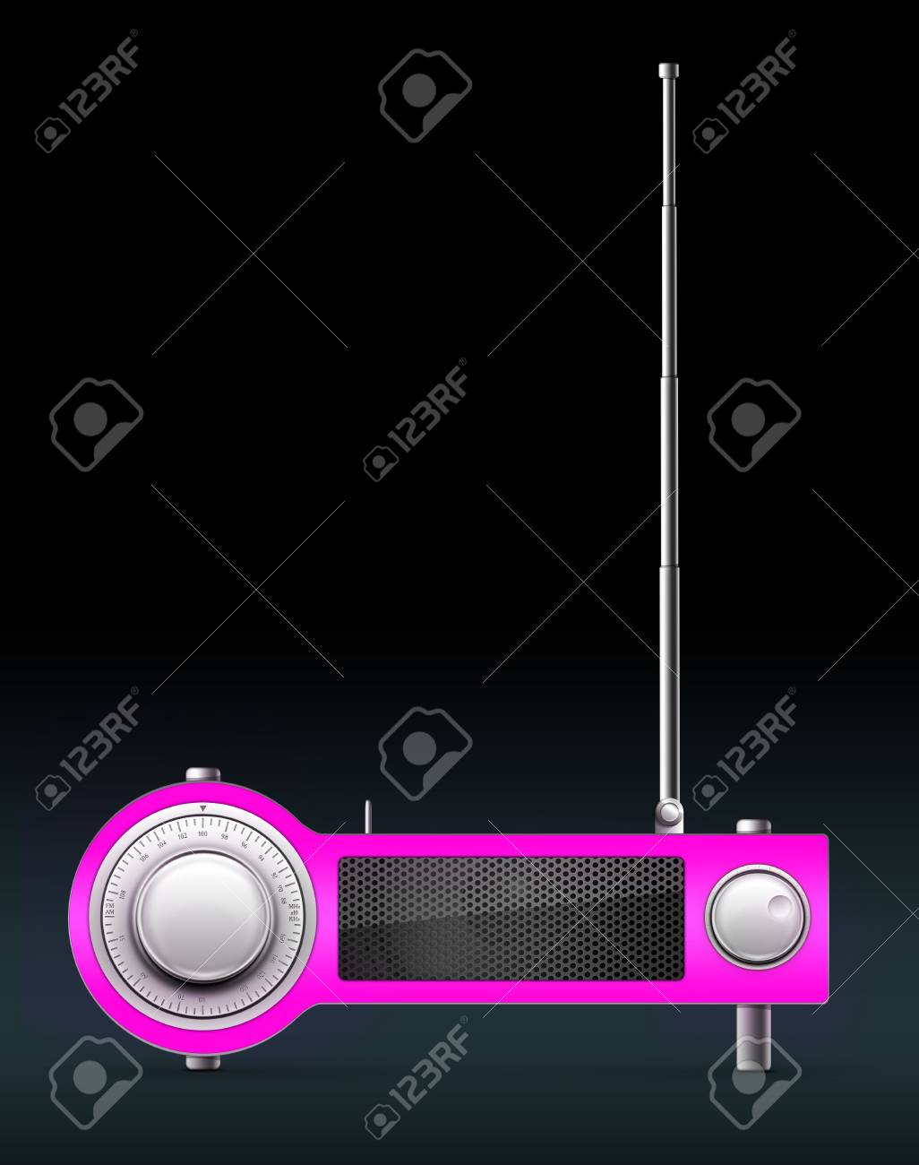 Old Style Radio on the background. Computer Designe, 2D Graphics Stock Photo - 5887144