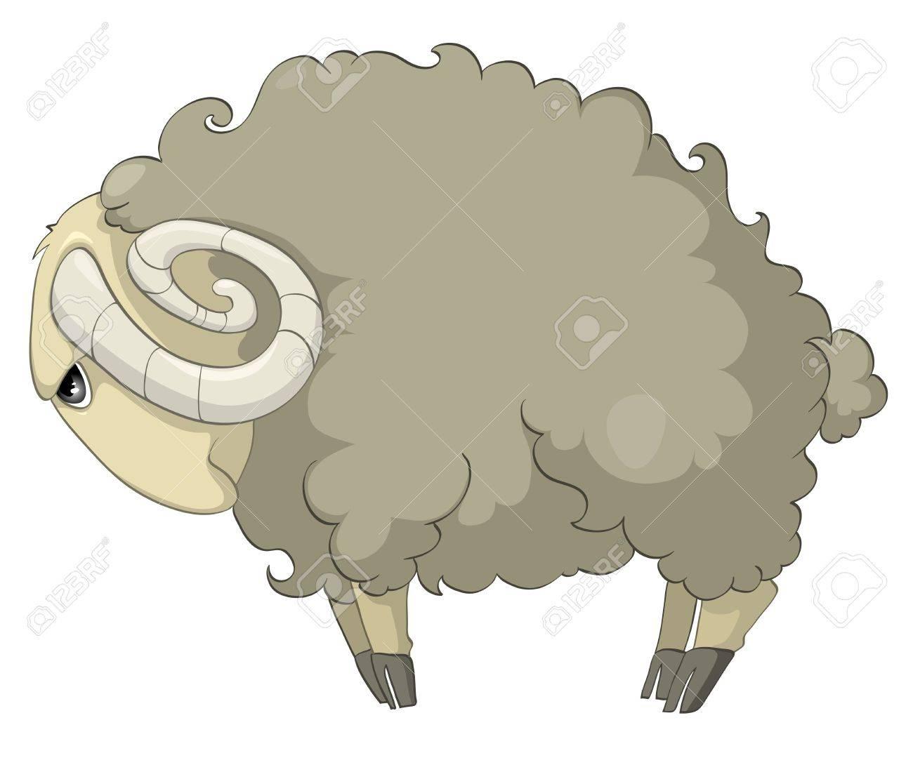 Cartoon Character Sheep Stock Vector - 10438977