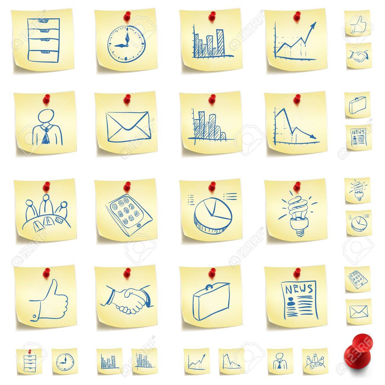 Sticker Icon Set Stock Vector - 10465796