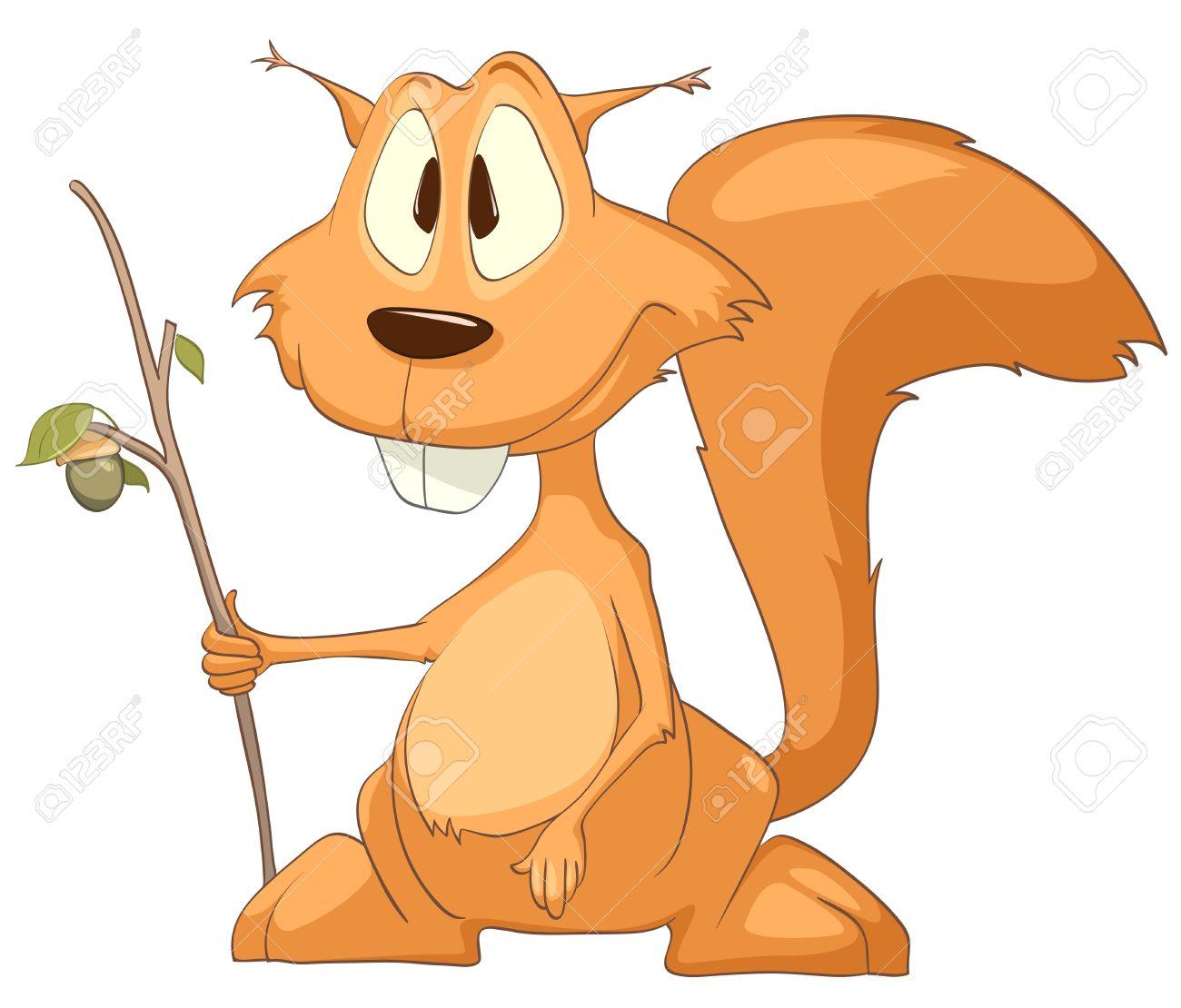 Cartoon Character Squirrel Stock Vector - 10613995