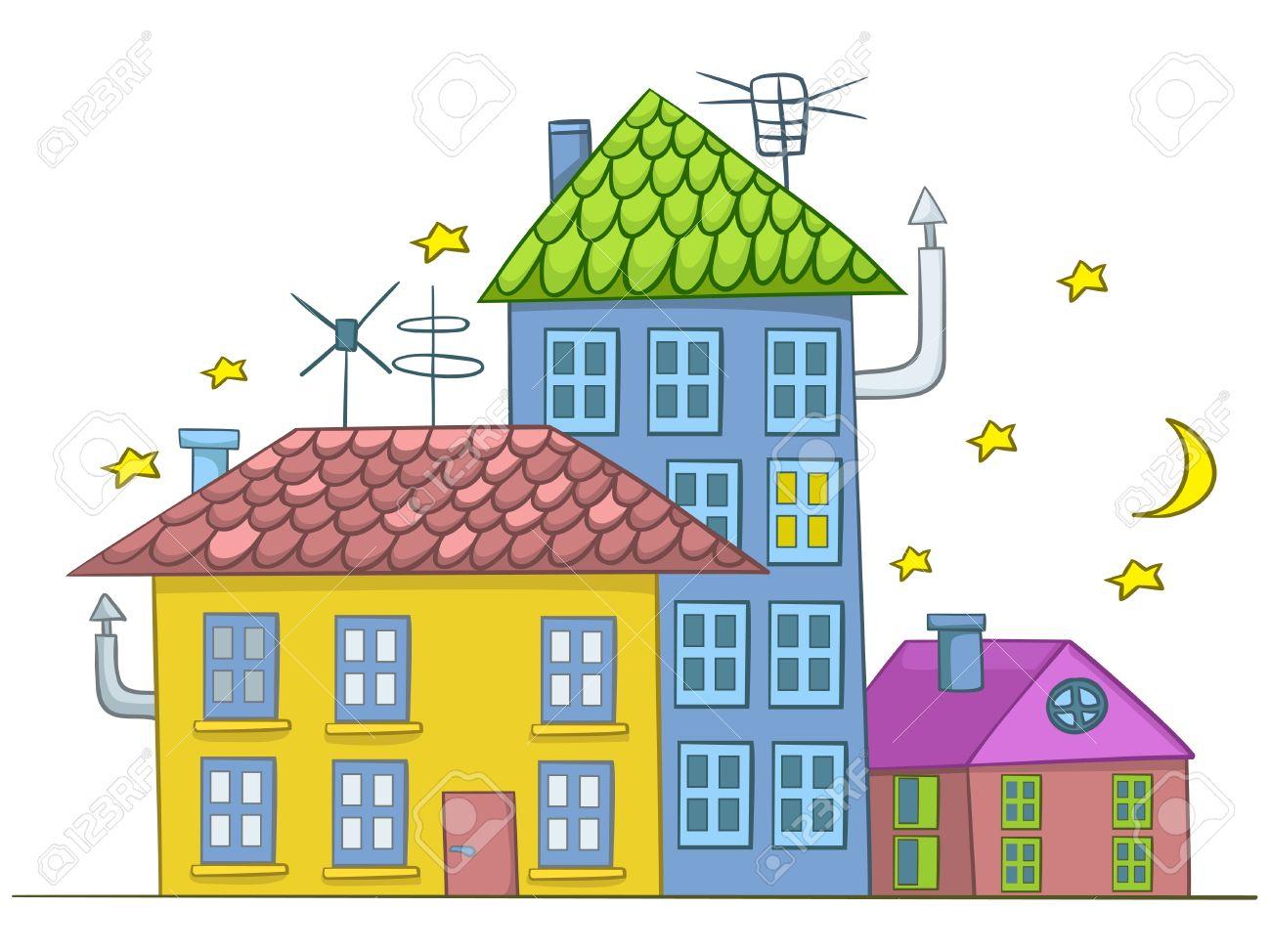 House design cartoon - Cartoon House Stock Vector 12043648