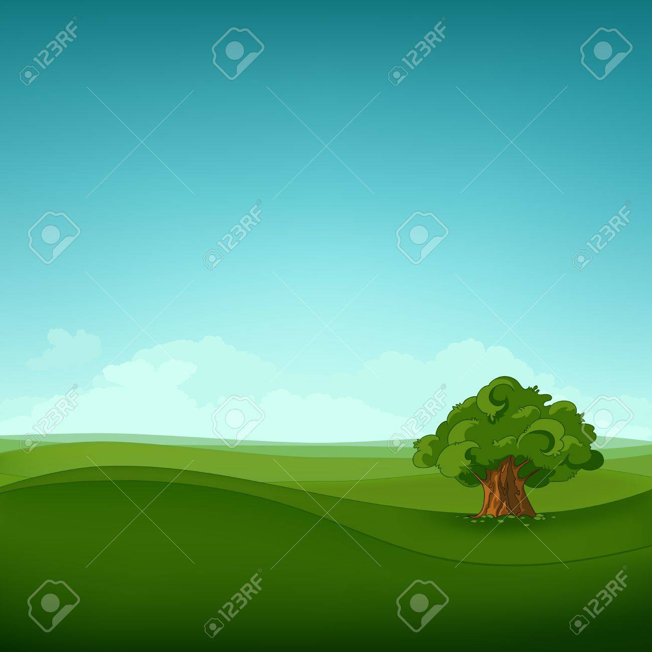 Field Landscape Stock Vector - 12137163