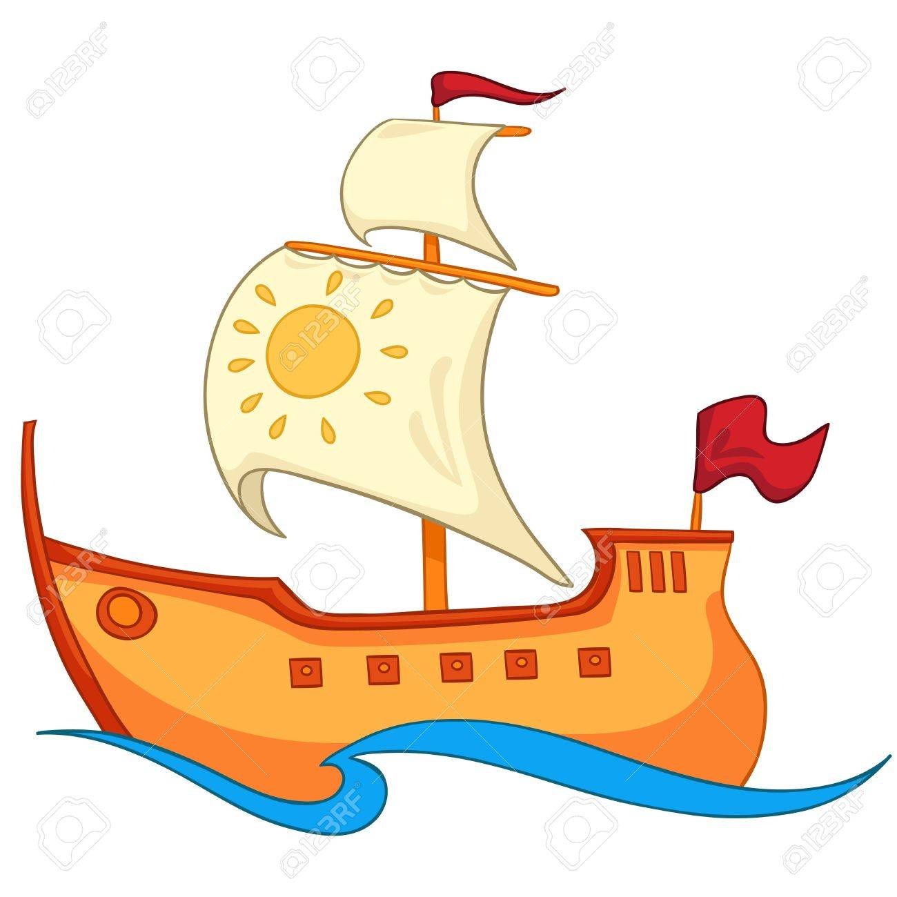 Cartoon Ship Royalty Free Cliparts Vectors And Stock Illustration Image 12137191