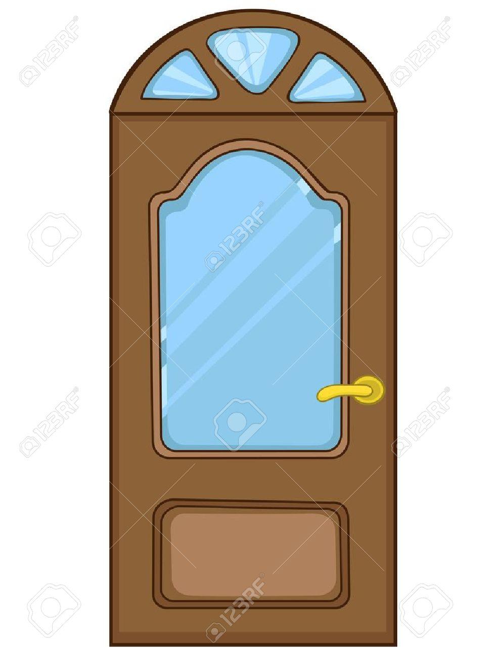 puerta principal de dibujos animados foto de archivo