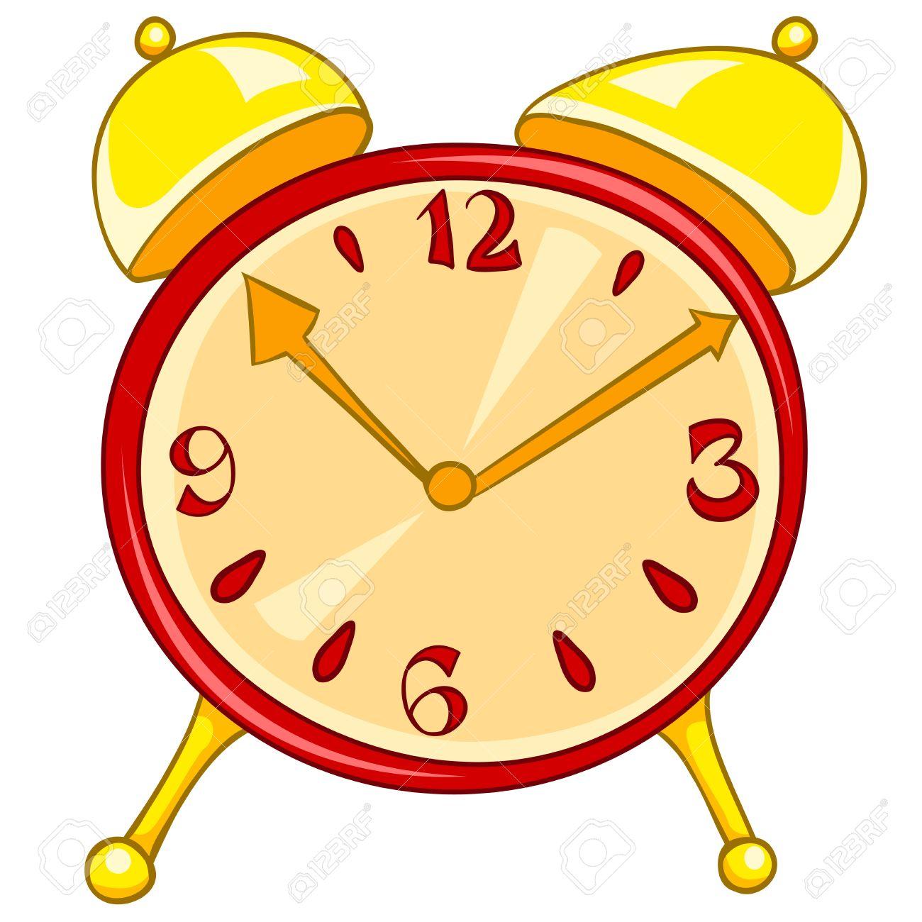 cartoon home clock royalty free cliparts vectors and stock rh 123rf com Clock Clip Art Quarter Past Analog Clock