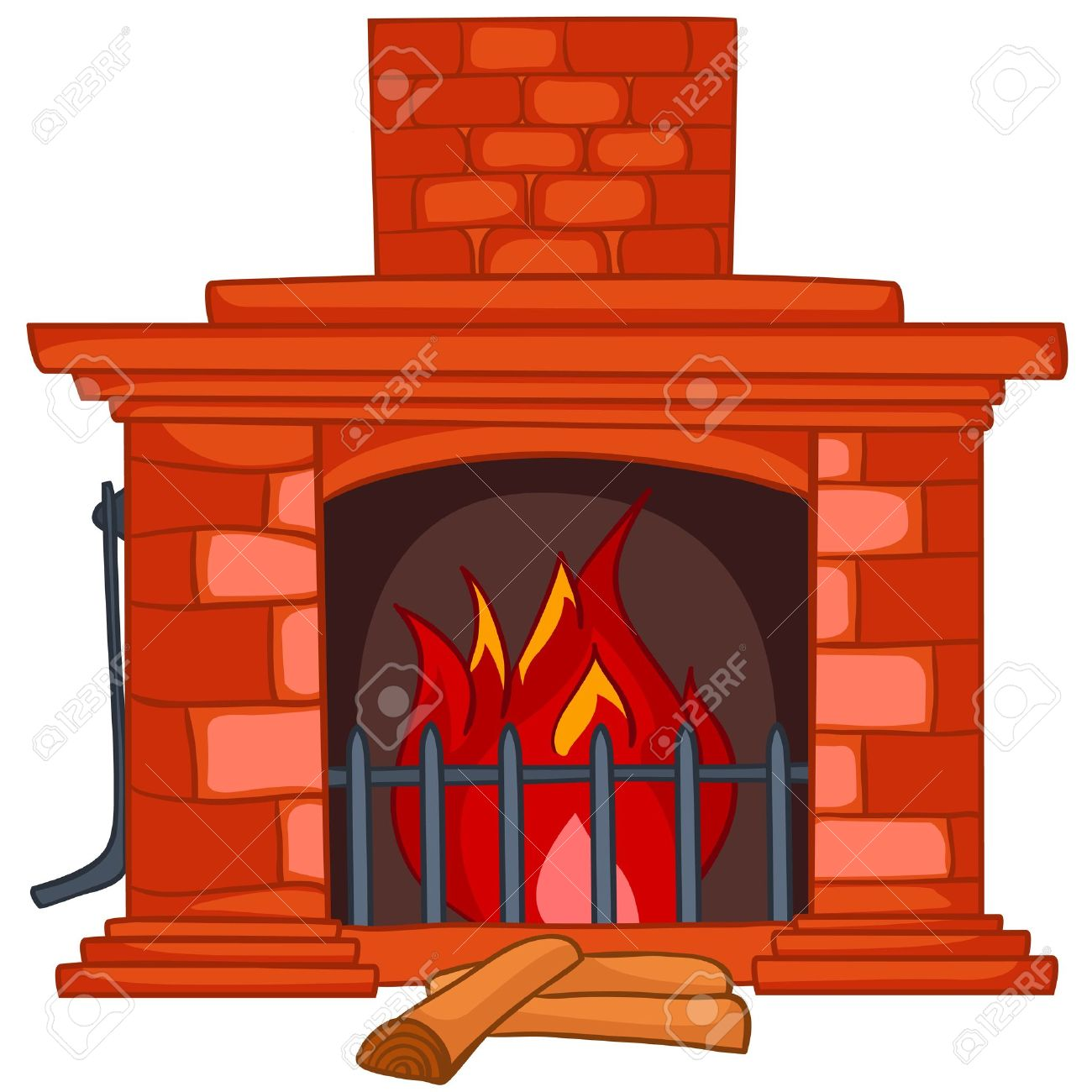cartoon home fireplace royalty free cliparts vectors and stock