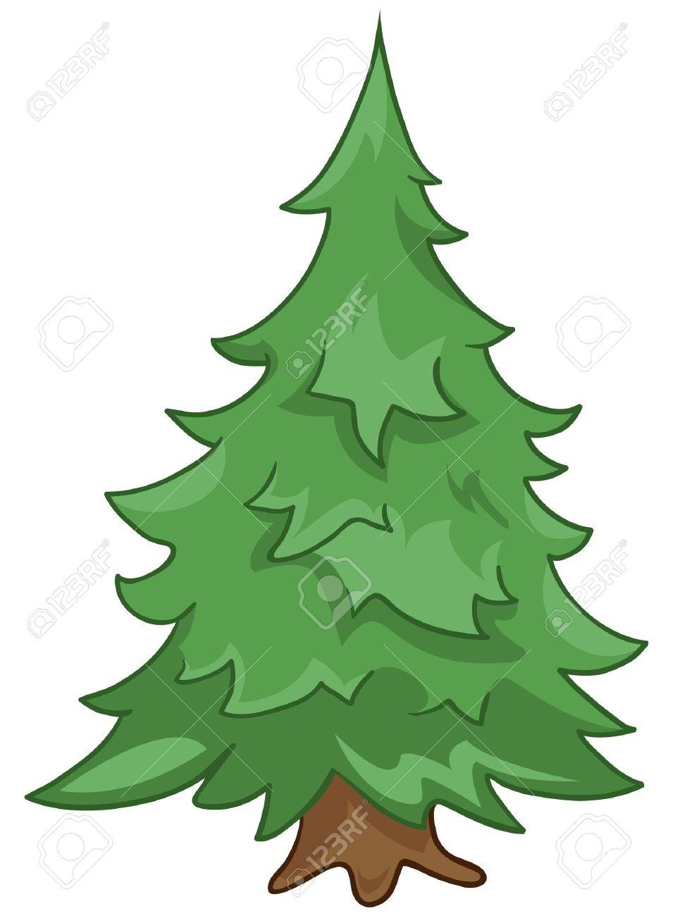 Cartoon Nature Tree Fir - 12372305