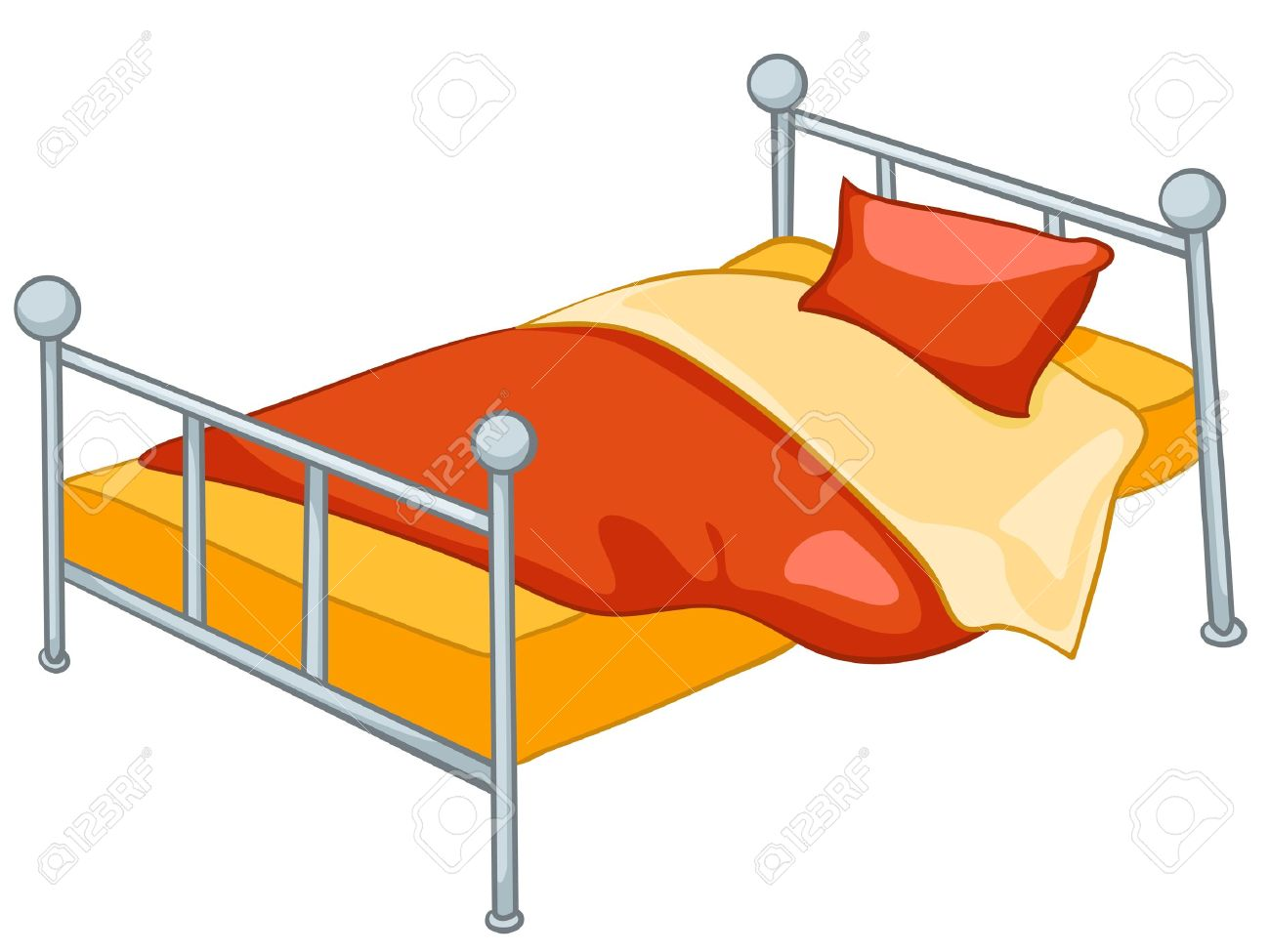 Home furniture bed - Cartoon Home Furniture Bed Stock Vector 12491806