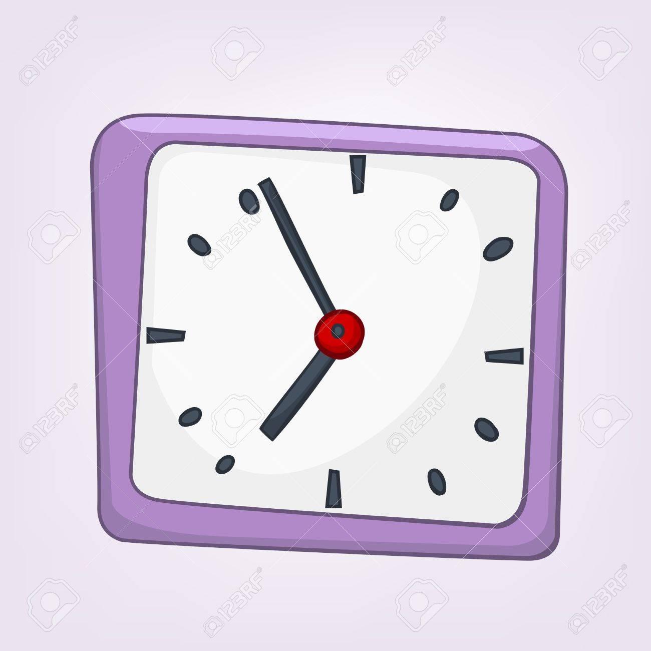 Cartoon Home Clock Stock Vector - 12491734