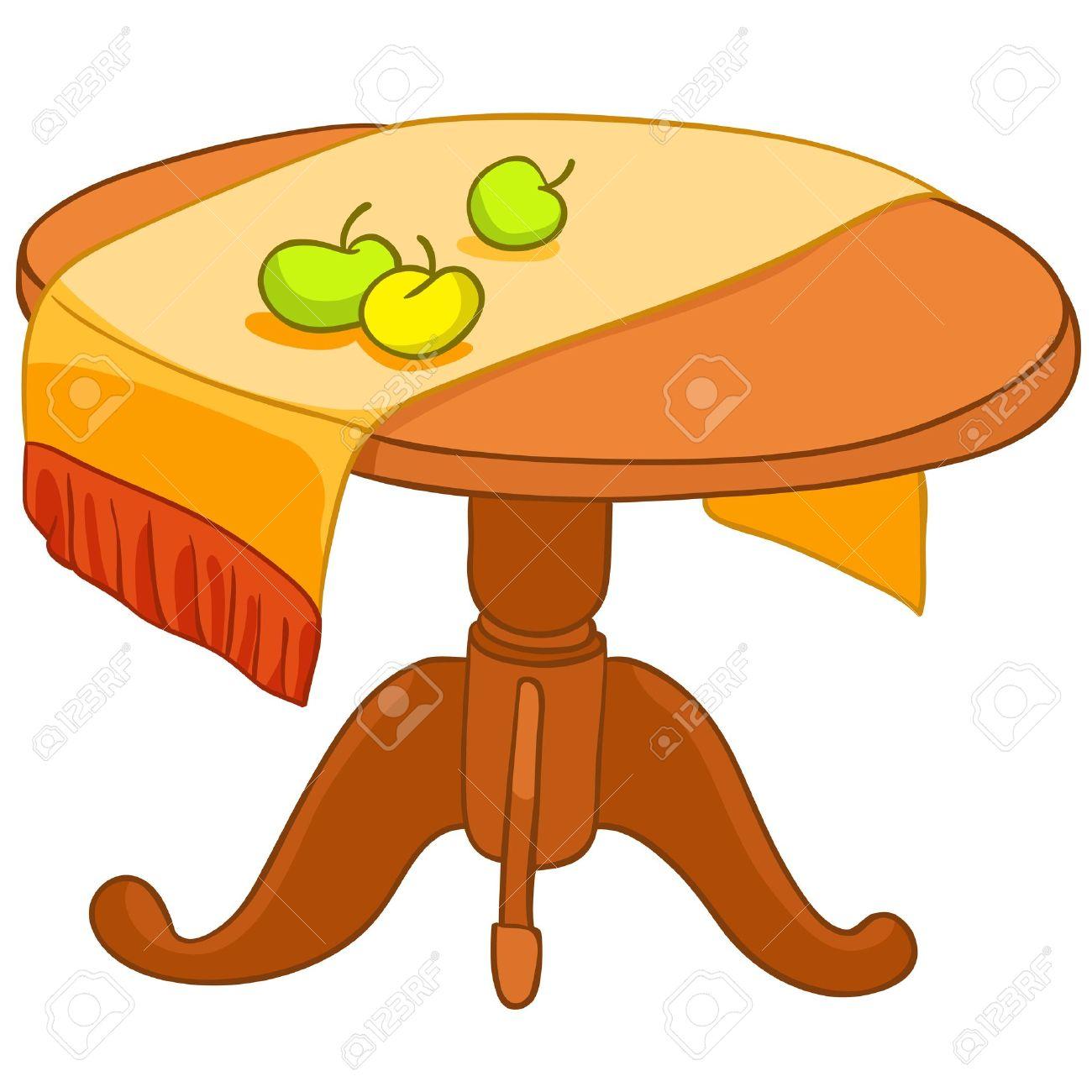 Cartoon Home Furniture Table Stock Vector - 12681000
