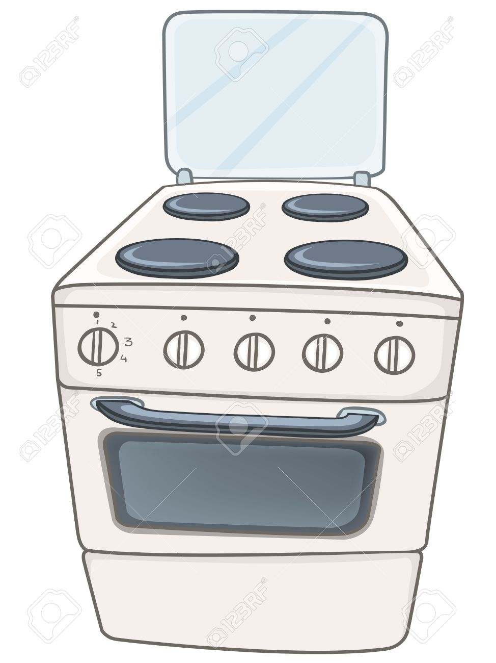 Cartoon Home Kitchen Stove Royalty Free Cliparts, Vectors, And Stock ...