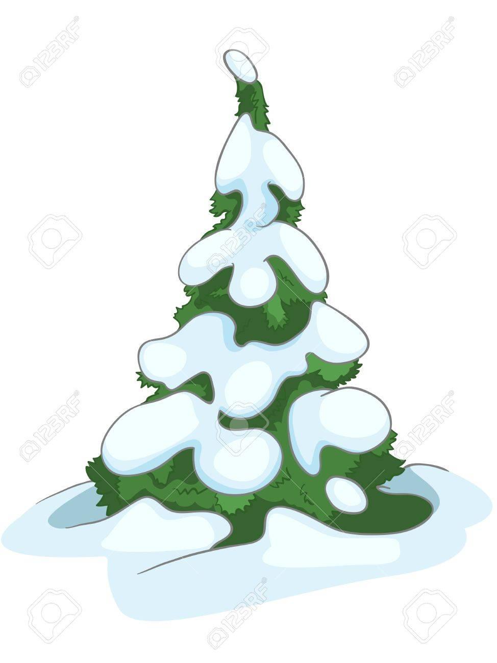 Cartoon Nature Tree Fir Stock Vector - 12996694