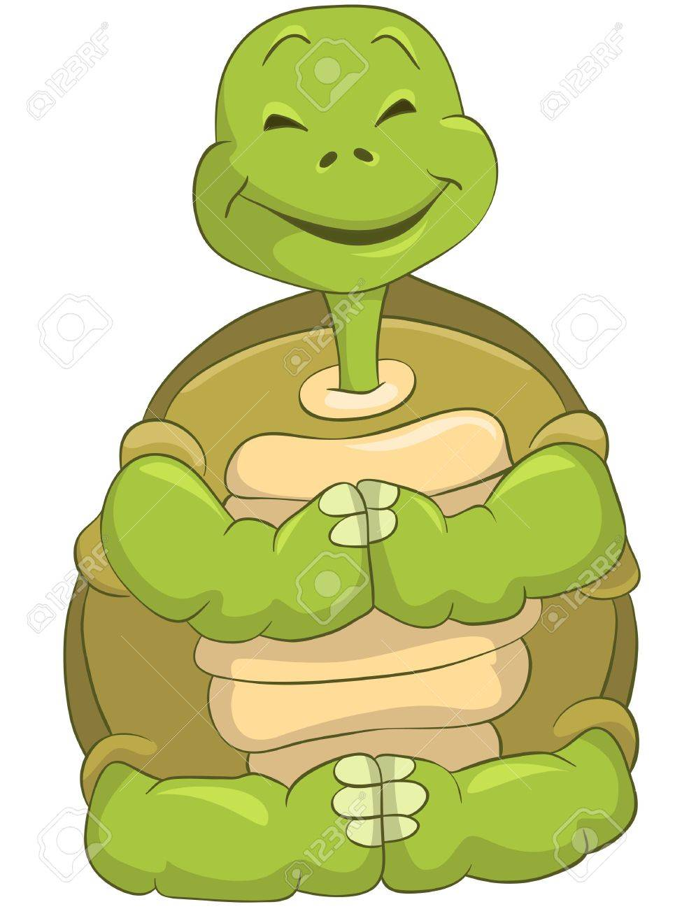 Funny Turtle Stock Vector - 13533769