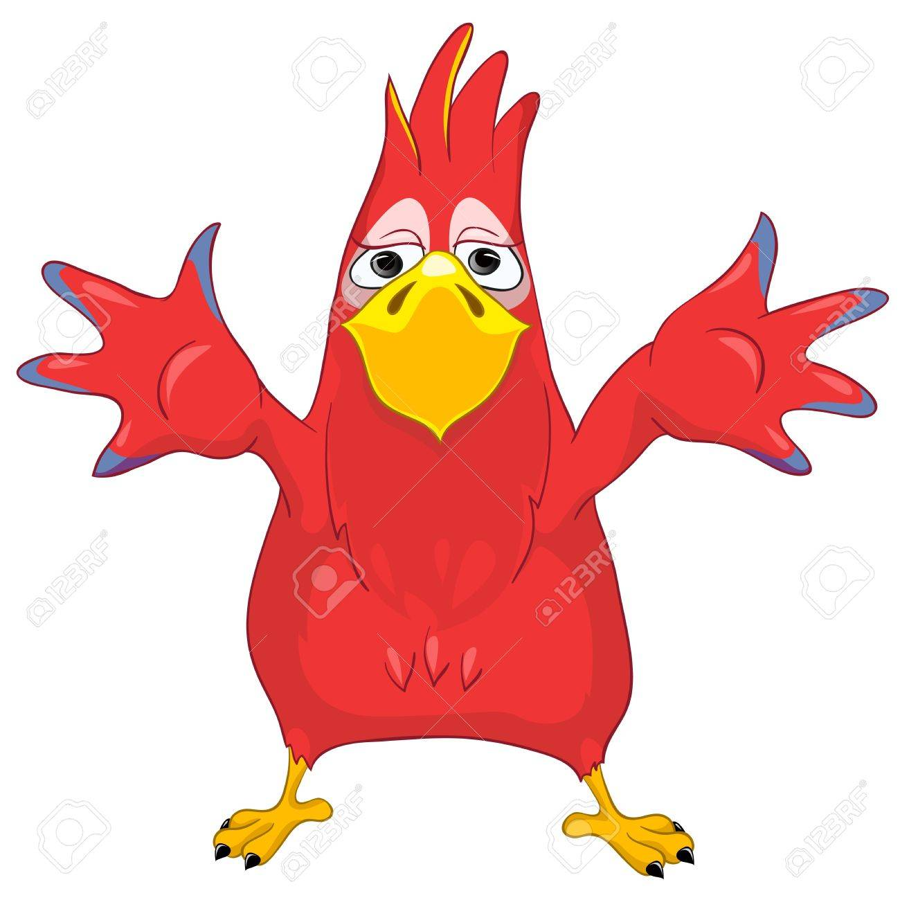 Showing Funny Parrot Stock Vector - 13640775