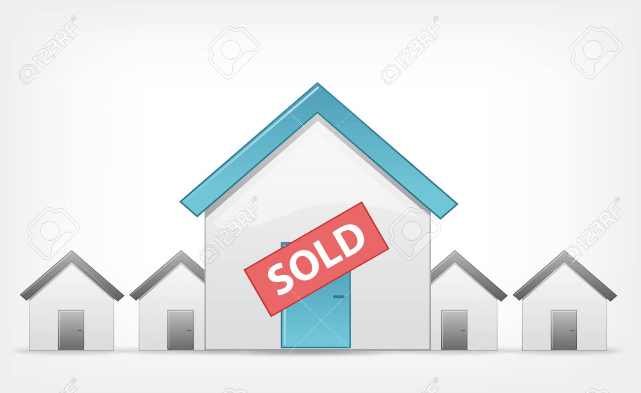 Sold Home Stock Vector - 13950762