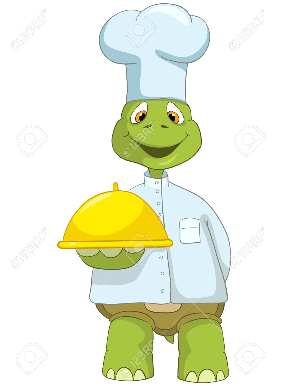 Cartoon Character Funny Turtle Isolated on White Background. Chef Stock Vector - 14455822