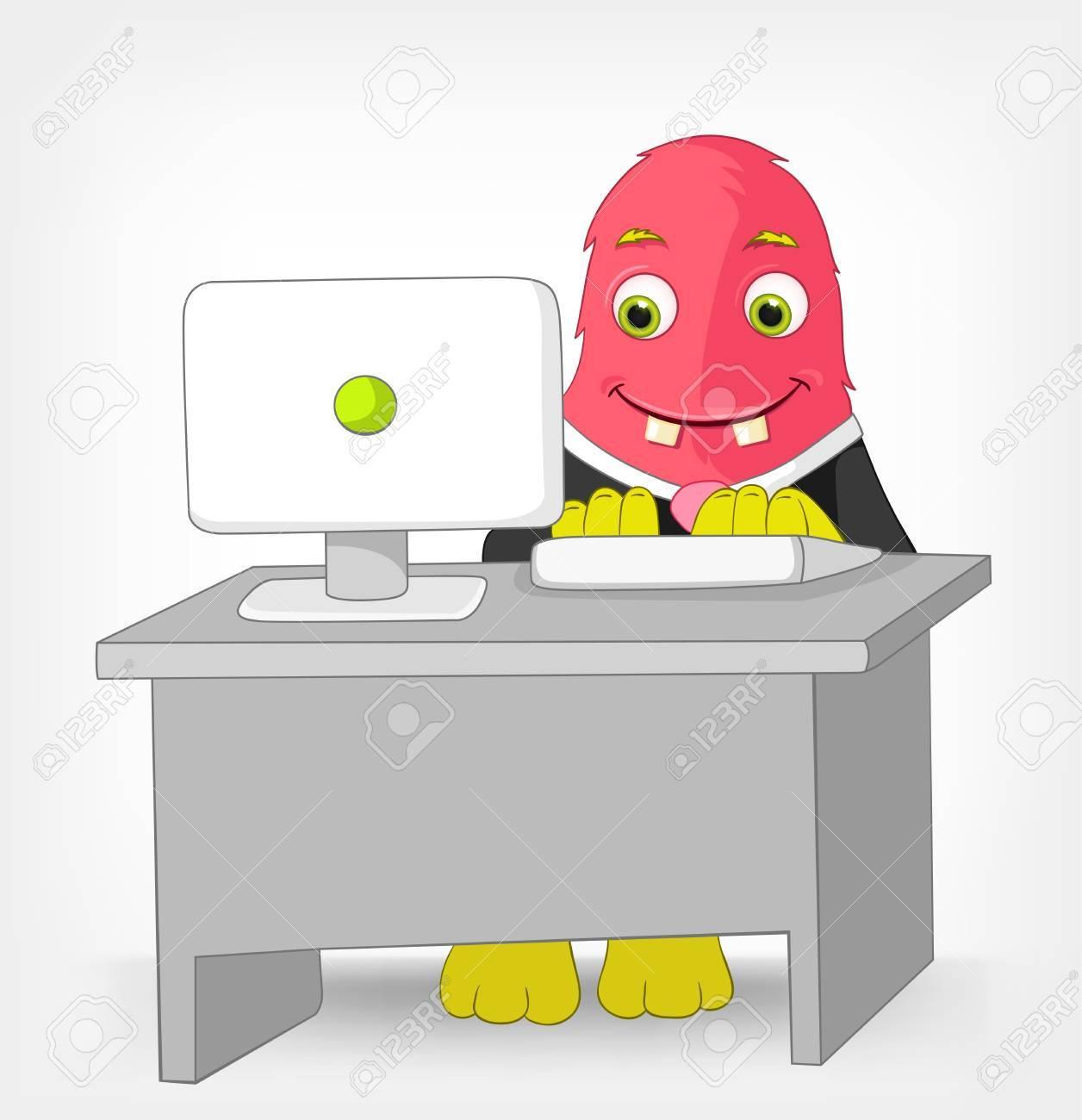 Funny Monster  Clerk Stock Vector - 14575690