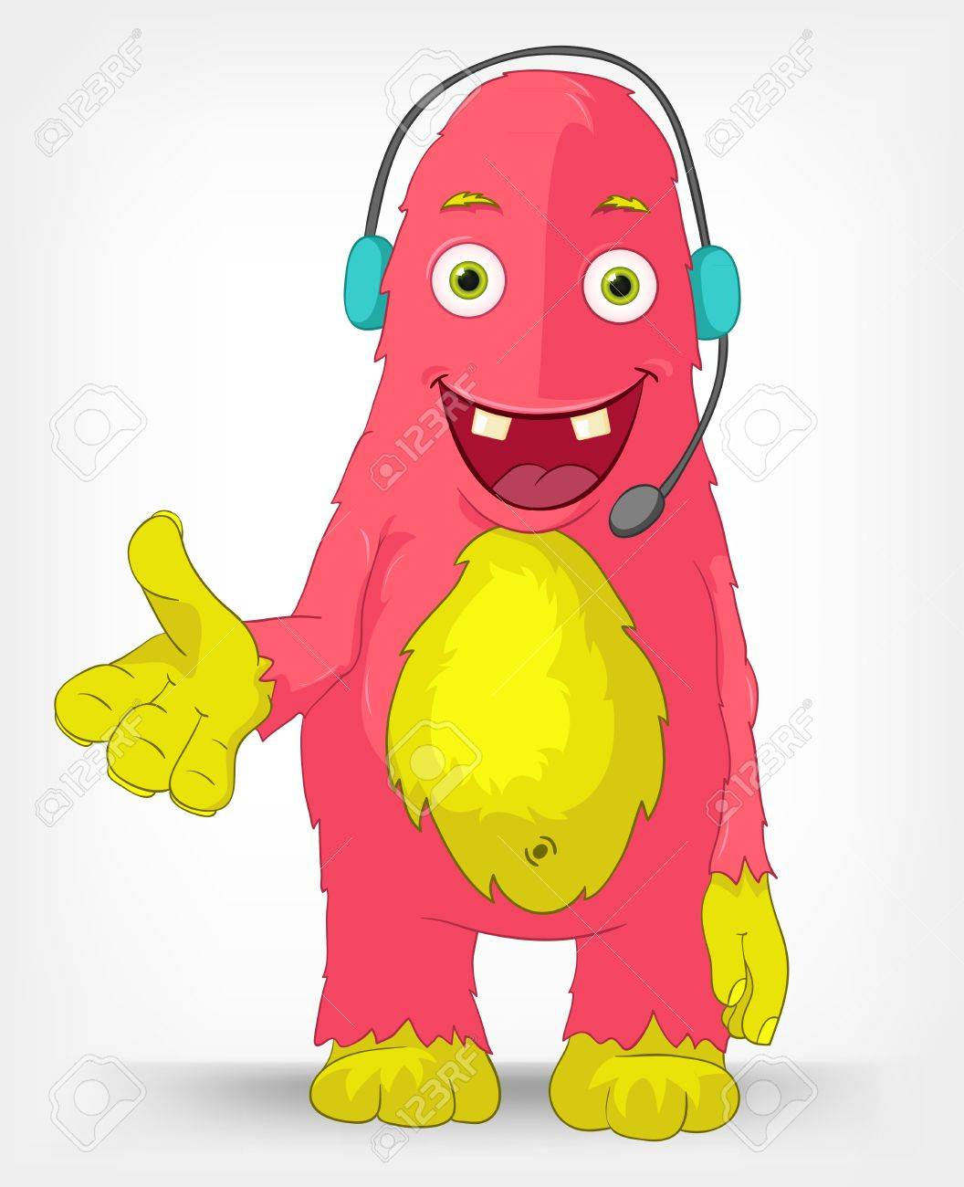 Funny Monster  Communication Stock Vector - 14575708