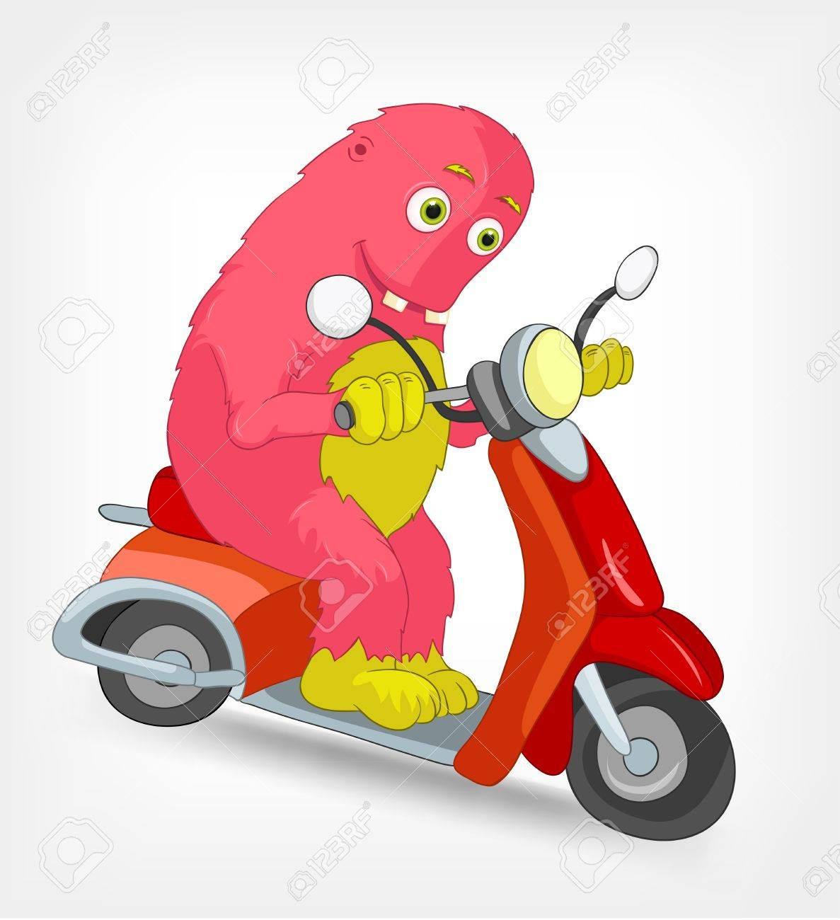 Funny Monster  Scooter Stock Vector - 14575707