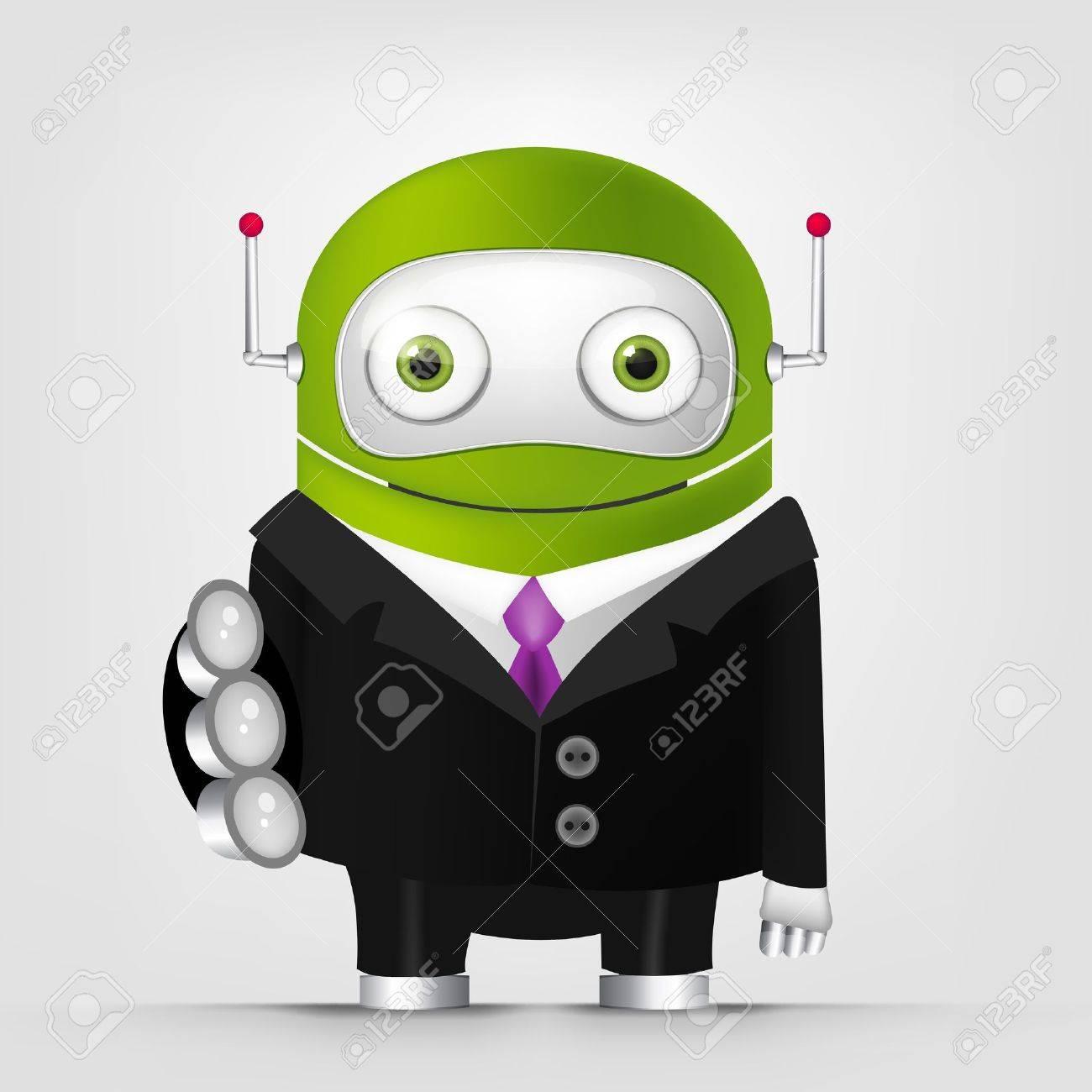 Cute Robot Stock Vector - 16065730