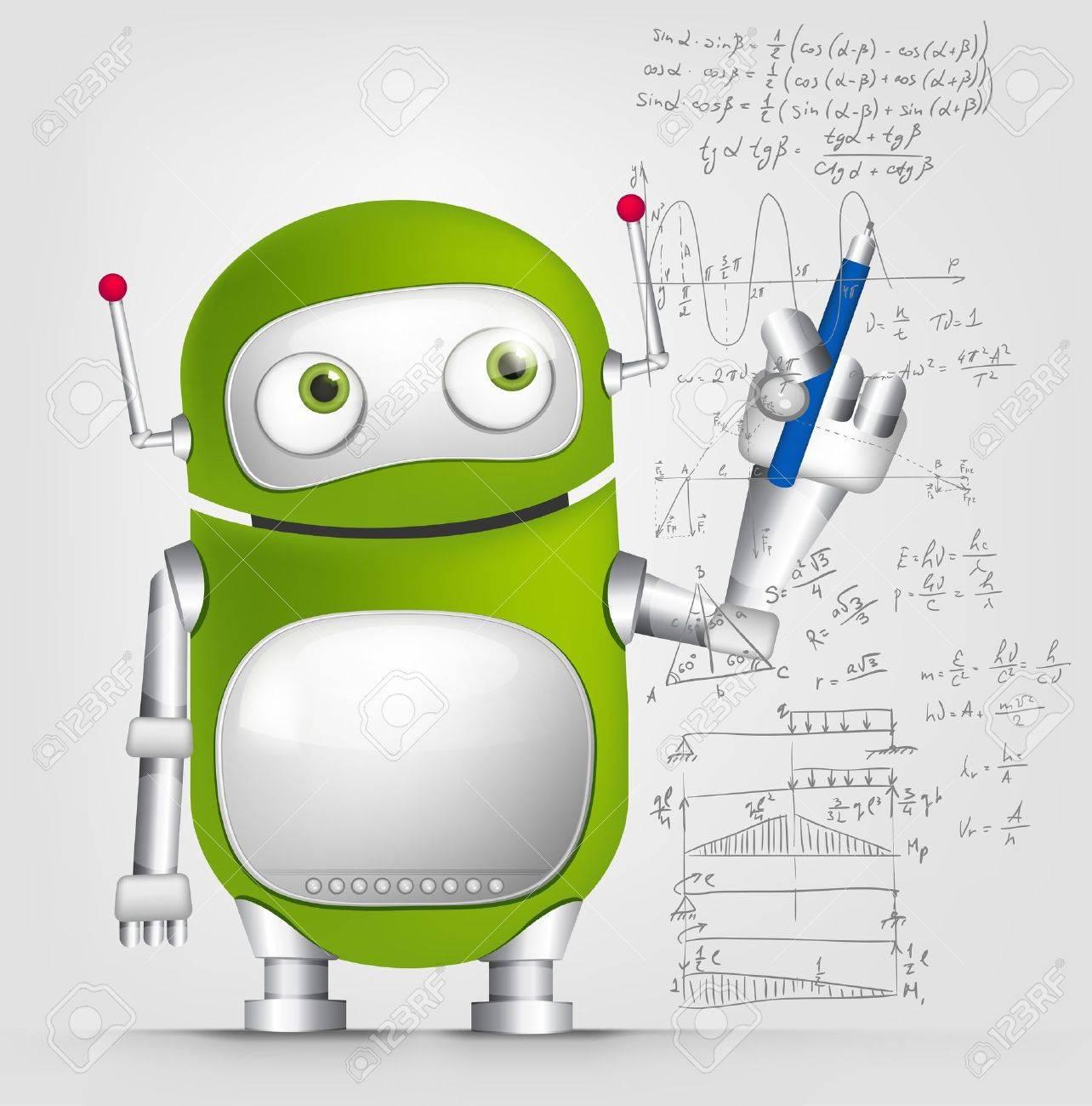 Cute Robot Stock Vector - 16065805