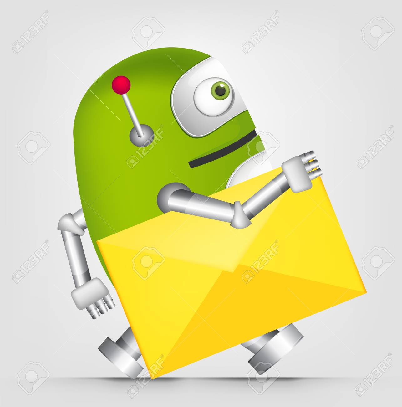 Cute Robot Stock Vector - 16065762