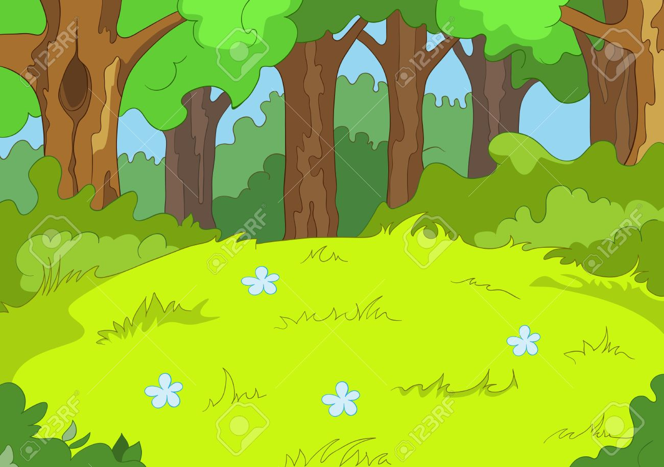 Forest Glade Stock Vector - 16419012