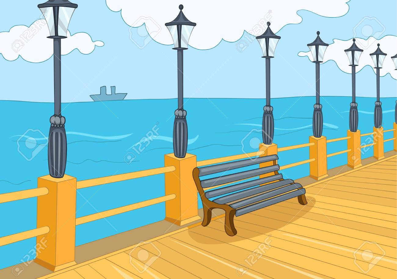 Seafront Stock Vector - 16419006