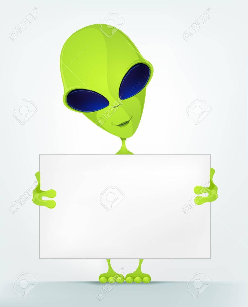 Funny Alien Stock Vector - 16693369