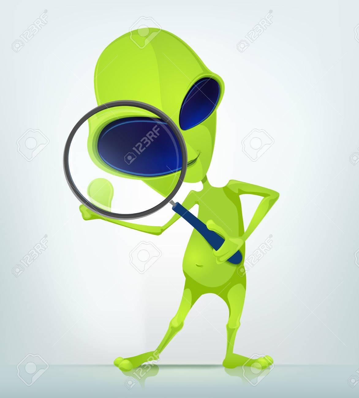 Funny Alien Stock Vector - 16693368