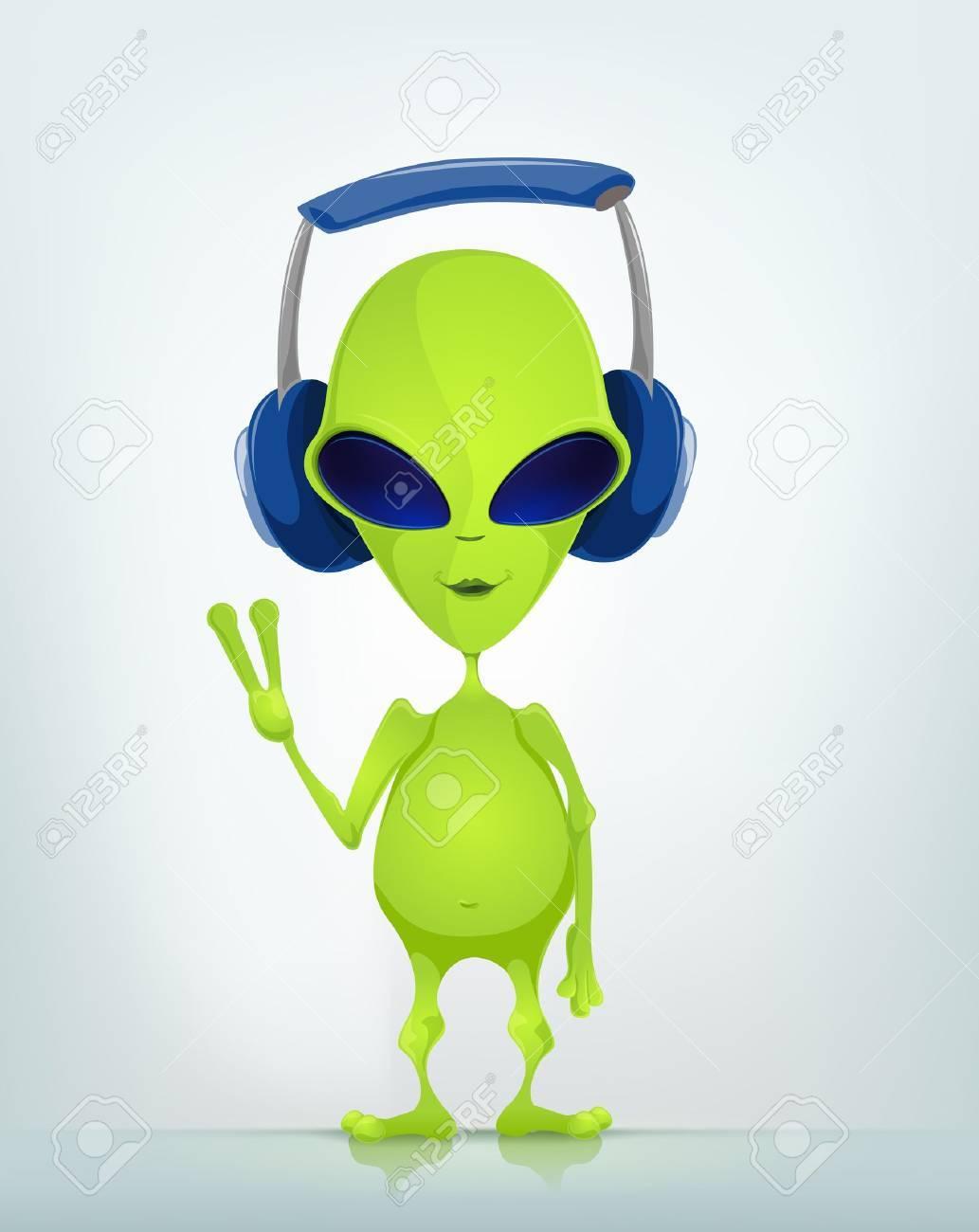 Funny Alien Stock Vector - 16693355