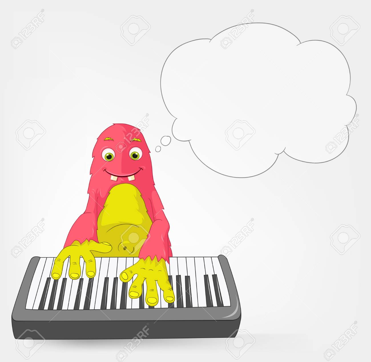 Funny Monster  Pianist Stock Vector - 16918906