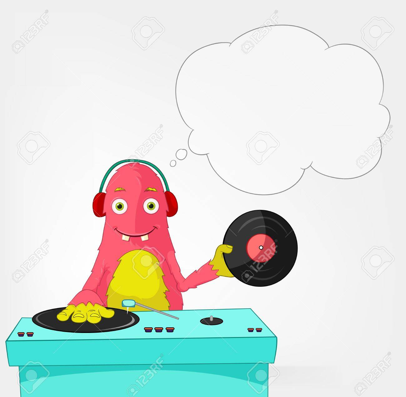 Funny Monster  DJ Stock Vector - 16918923