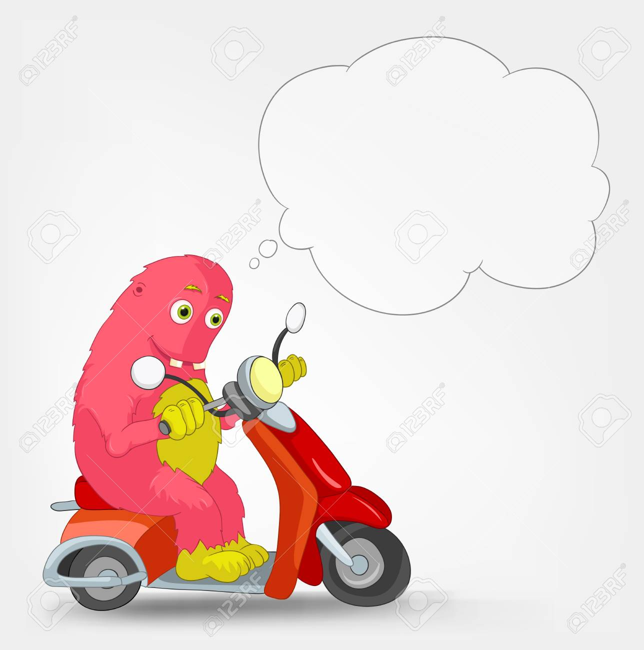 Funny Monster  Scooter Stock Vector - 16918931
