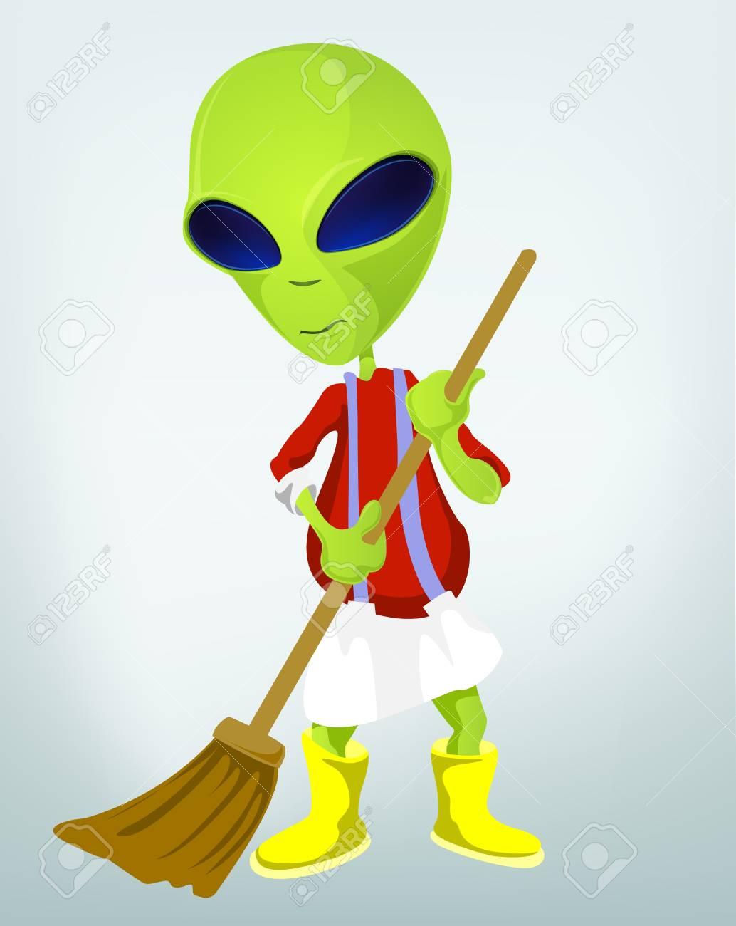 Funny Alien Stock Vector - 17286584